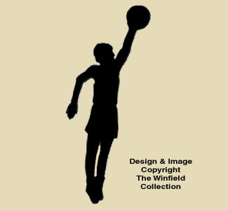 Basketball Slammer Shadow Wood Pattern