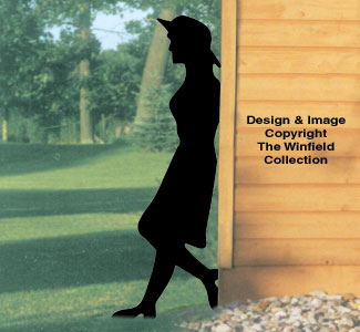 Leaning Lady Shadow Woodcraft Pattern