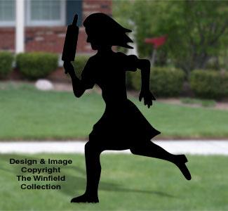 Mad Woman Shadow Woodcrafting Pattern