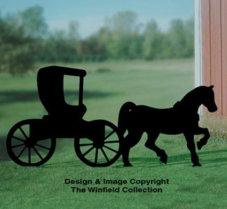 Horse & Buggy Shadow Woodcraft Pattern