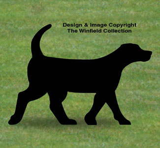 Black Lab Shadow Woodcrafting Pattern