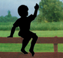 Sitting Boy Shadow Woodcraft Pattern