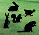 Small Animals Shadow Wood Pattern