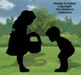 Curious Kids Shadow Woodcraft Pattern