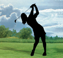 Lady Golfer Shadow Woodcrafting Pattern