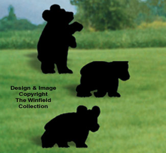 Bear Cubs Shadow Woodcrafting Pattern