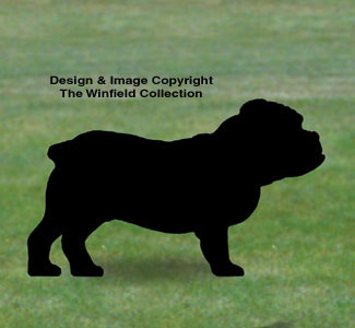 Dogs Bulldog Shadow Woodcrafting Pattern