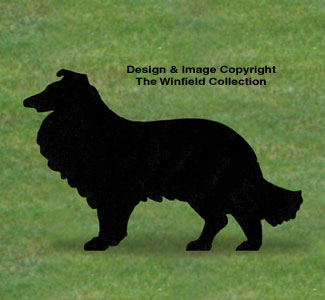 Dogs collie shadow woodcrafting pattern for Yard shadow patterns