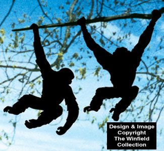 Hanging Monkey Shadow Wood Pattern Set