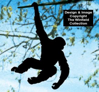 Swinging Monkey Shadow Woodcraft Pattern