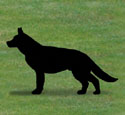 German Shepherd Shadow Wood Pattern