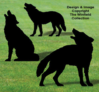 Life-Size Wolf Shadows Wood Pattern