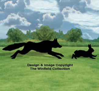 Life-Size Fox Hunt Shadow Wood Pattern