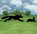 Life-Size Fox Hunt Shadow Wood Pattern