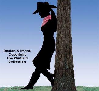 Leaning Cowgirl Woodcrafting Pattern