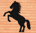 Rearing Horse Shadow Woodcraft Pattern