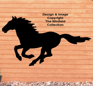 Running Horse Shadow Wood Pattern