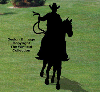Ridin' Cowboy Shadow Woodcraft Pattern