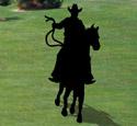 Ridin' Cowboy Shadow Woodcraft Pattern