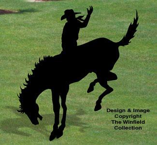 Bronc Rider Shadow Woodcraft Pattern