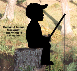 Fishin' Boy Shadow Woodcraft Pattern