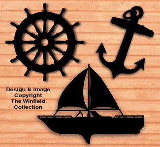 Nautical Shadows Pattern Set