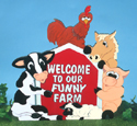 Funny Farm Welcome Sign Pattern