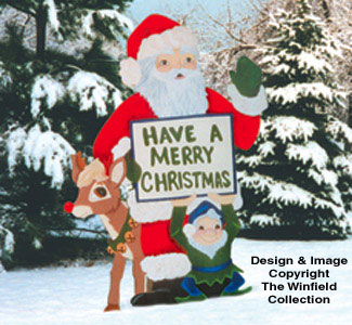 Christmas Greeting Woodcraft Pattern