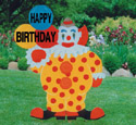 Birthday Clown Woodcraft Pattern