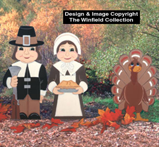 Pilgrim Couple & Turkey Woodcraft Pattern