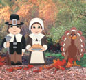 Pilgrim Couple & Turkey Woodcraft Pattern
