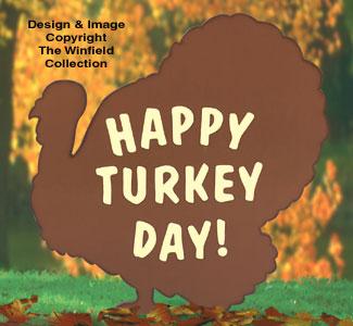 Turkey Silhouette Sign Pattern