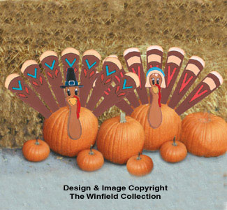 Pumpkin Turkey Woodcraft Pattern
