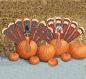 Pumpkin Turkey Woodcraft Pattern