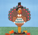 Give Thanks Turkey Woodcraft Pattern
