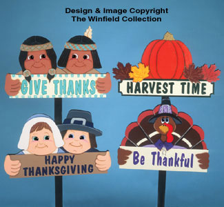 Four Thanksgiving Signs Woodcraft Pattern