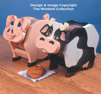 Cow & Pig Treat Jars Pattern