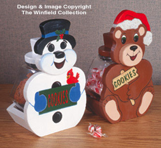 Snowman & Bear Treat Jars Pattern