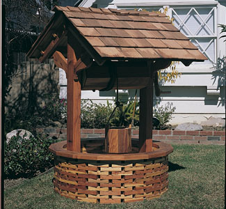 Large Wishing Well Wood Project Plan