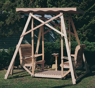 Outdoor furniture plans canopy swing wood plans for Building a wooden swing