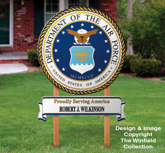 Air Force Yard Sign Woodcrafting Pattern