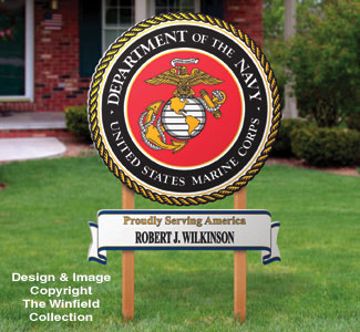 Marine Yard Sign Woodcrafting Pattern
