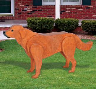 3D Life-Size Golden Retriever Wood Pattern