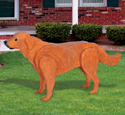 3D Life-Size Golden Retriever Wood Pattern