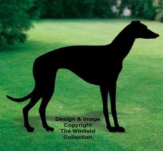 Greyhound Shadow Woodcrafting Pattern