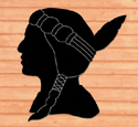 Female Indian Shadow Woodcraft Pattern