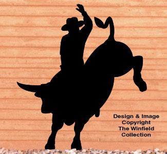 Bull Rider Shadow Woodcraft Pattern