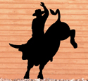 Bull Rider Shadow Woodcraft Pattern