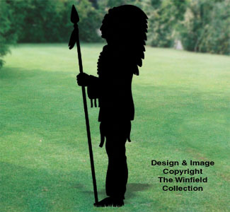 Standing Chief Shadow Woodcraft Pattern