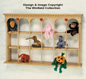 Bean Bag Animal Shelf Woodcraft Pattern
